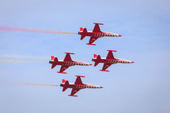 Turkish Stars demo team in formation Royalty Free Stock Photography
