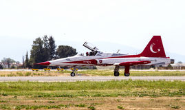 Turkish Stars NF-5 Aircraft Royalty Free Stock Images