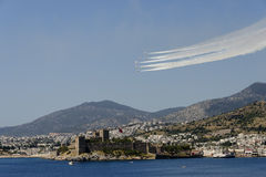 Turkish Stars NF5 and castle Stock Photos