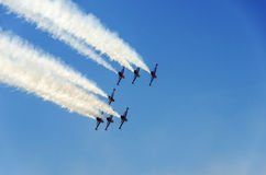 Turkish Stars NF5 formation behind Royalty Free Stock Images