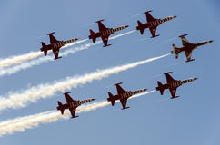 Turkish Stars NF5 underside Royalty Free Stock Images