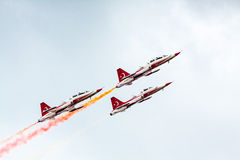 Turkish Start Jet Fighters Air Show Stock Photo