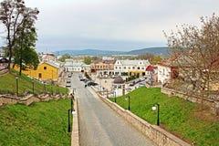 Turkish street and Saint Maria square forner Turkish square in Chernivtsi Stock Photography