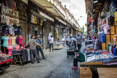 Turkish street shops in Istanbul stock photography