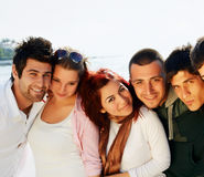 Turkish students at the sea Royalty Free Stock Images