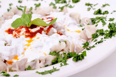 Turkish style delicious manti tatar borek Royalty Free Stock Photo