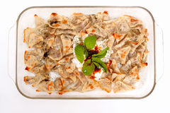 Turkish style delicious manti tatar borek Royalty Free Stock Image