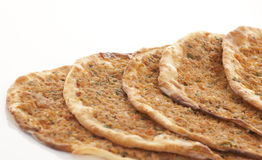Turkish style Minced lahmacun Stock Images