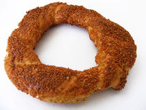 Turkish style organic pretzels pictures. The natural and organic sesame bagel who does not want to eat Stock Photos