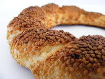Turkish style sesame pretzels pictures suitable for packaging design Royalty Free Stock Image