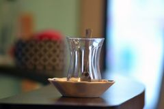 Turkish Style Tea Cup Glass royalty free stock photography