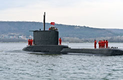 Turkish submarine DOLUNAY (S-352) Stock Photography