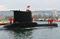 Turkish submarine DOLUNAY (S-352) Royalty Free Stock Image