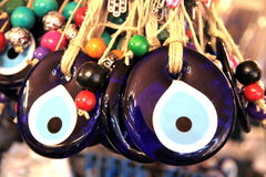 Turkish superstition evil eye beads, Royalty Free Stock Images