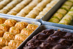 Turkish sweet baklava Stock Image