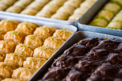 Turkish sweet baklava Royalty Free Stock Photography
