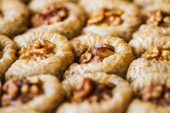 Turkish sweet baklava Stock Photos