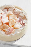 Turkish sweet delight, rose and yellow Stock Images
