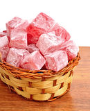 Turkish sweet delights in the basket Stock Photo