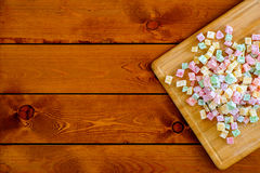 Turkish sweet delights on wooden board Stock Photos