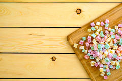 Turkish sweet delights on wooden board Royalty Free Stock Photos