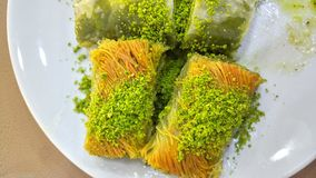 Turkish baklava dessert with pistachios Stock Photography