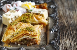 Turkish sweets. Royalty Free Stock Photo