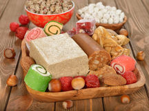 Turkish sweets Royalty Free Stock Image