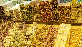 Turkish sweets at Grand Bazaar, Istanbul Royalty Free Stock Images