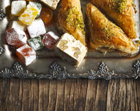 Turkish sweets. Mixed Lokum Stock Photography