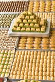 Turkish sweets on plates royalty free stock image