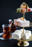 Turkish sweets and Tea Royalty Free Stock Image