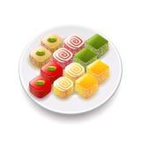 Turkish sweets on white vector. Turkish sweets on white photo-realistic vector illustration vector illustration