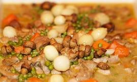 Turkish tas kebap with mushroom and onion royalty free stock photo