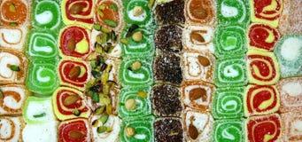 Turkish tasty sweet as background Royalty Free Stock Photos