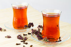 Turkish tea. Turkish Traditional Tea in glasses Stock Photography