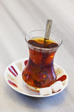 Turkish Tea. In a traditional glass cup stock photography
