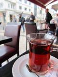 Turkish tea. On a table in Istanbul, Turkey Stock Photography