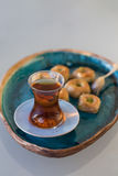 Turkish tea and Baklava Royalty Free Stock Image