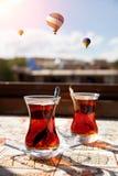 Turkish tea in Cappadocia Royalty Free Stock Photography