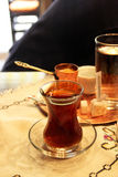 Turkish tea and coffee on the table Royalty Free Stock Photos