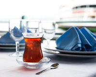 Turkish tea cup Stock Photography