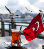 Turkish tea cup Royalty Free Stock Photo