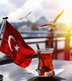 Turkish tea cup Stock Images