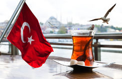 Turkish tea cup Royalty Free Stock Photography