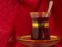 Glass of Turkish black tea Stock Image