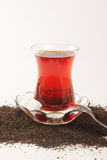 Turkish Tea cup set with clipping path. Stock Photo