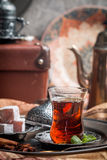 Turkish tea and delight Royalty Free Stock Image