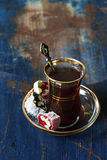 Turkish tea and delights Royalty Free Stock Photography