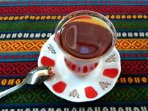 Turkish tea glass , istanbul. stock photo